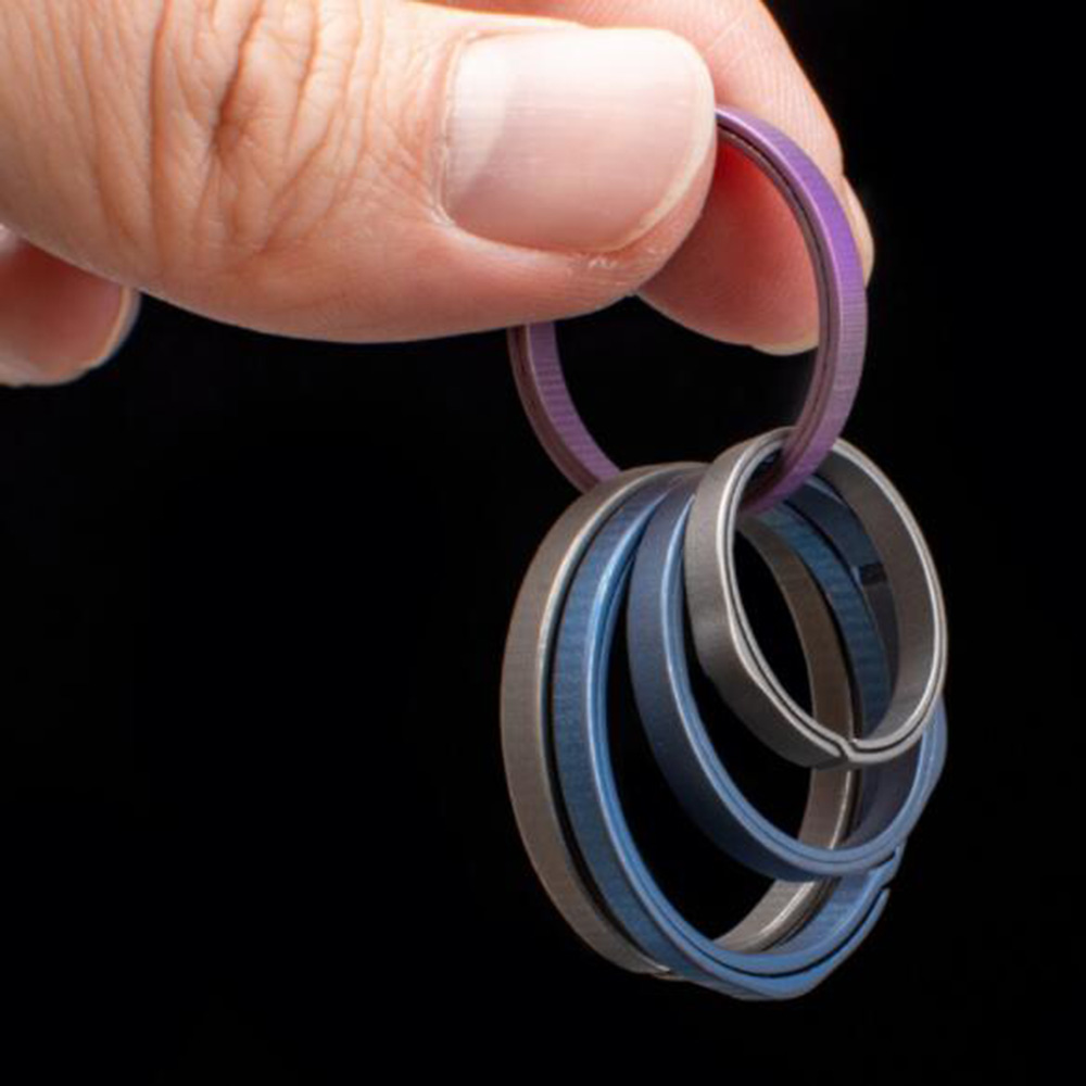 1PC Round Titanium Alloy Key Ring Pocket Tools High Quality Keychain For Men Women Waist Hanging Pendant Outdoor EDC Gadget Tool