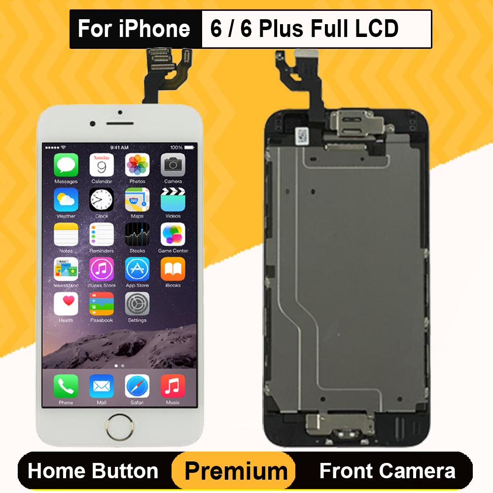 """4.7"""" Complete Full Set Screen For Apple iPhone 6 6Plus LCDDisplay with 3D Touch Digitizer Assembly Home Button A1549 A1586 A1593"""