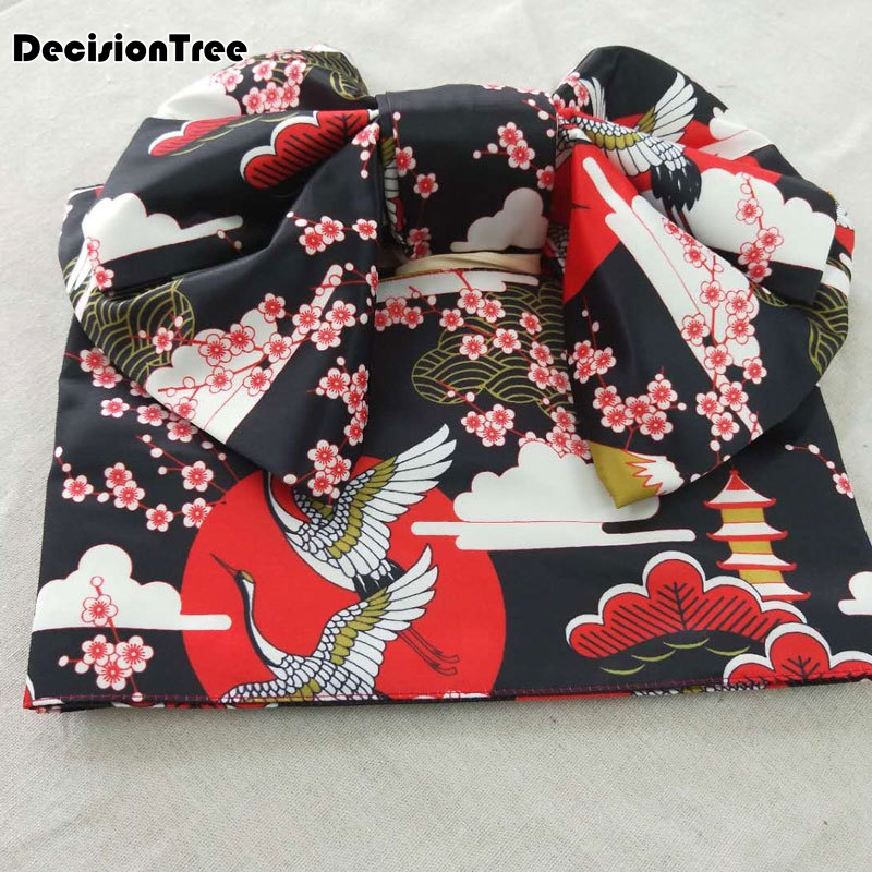2019 Women Multi Patterns Kimono Obi Belt Shaped Butterfly Festival Suit Vintage Kimono Bathrobe Belts Cotton Robe Yukata Obi