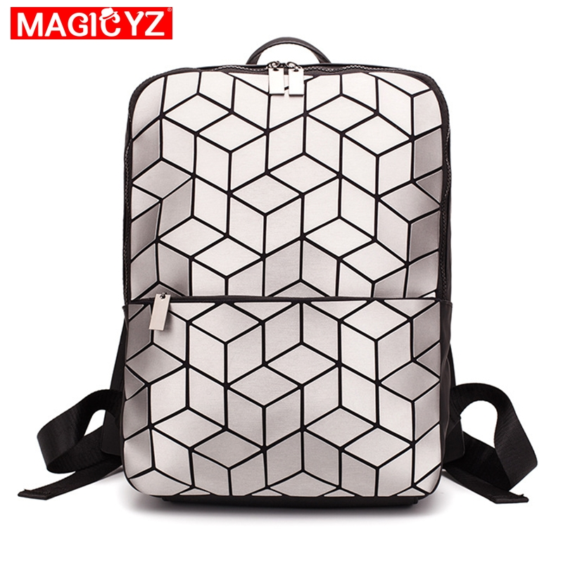 College Style Boy And Girl Computer Backpack Geometric Plaid Man And Woman Large Capacity Travel Backpack Daily Shoulder Bag