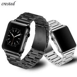 De lujo de correa de reloj Apple watch banda 42mm/38mm iWatch 4 banda de 44mm/40mm pulsera de correa de metal de acero Apple watch 4 3 2 1