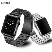 Luxury Strap for Apple watch band 44 mm 40mm iWatch band 38mm 42mm Stainless Steel metal Watchband bracelet Apple watch 4 5 3 21 luxury 316l watchband straps band metal 42mm link for apple watch stainless steel bracelet 38mm butterfly loop black gold silver