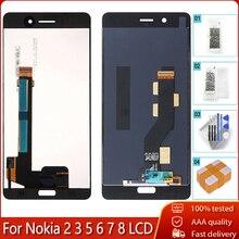 Calidad AAA para Nokia 8 7 6 5 3 2 LCD pantalla táctil digitalizador montaje para Nokia N8 N6 n7 N5 N3 N2 pantalla LCD prueba OK