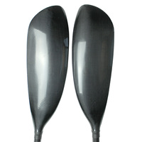 Cisimove 2 pc light weight carbon wing kayak paddle with wing blade oval shaft free bag