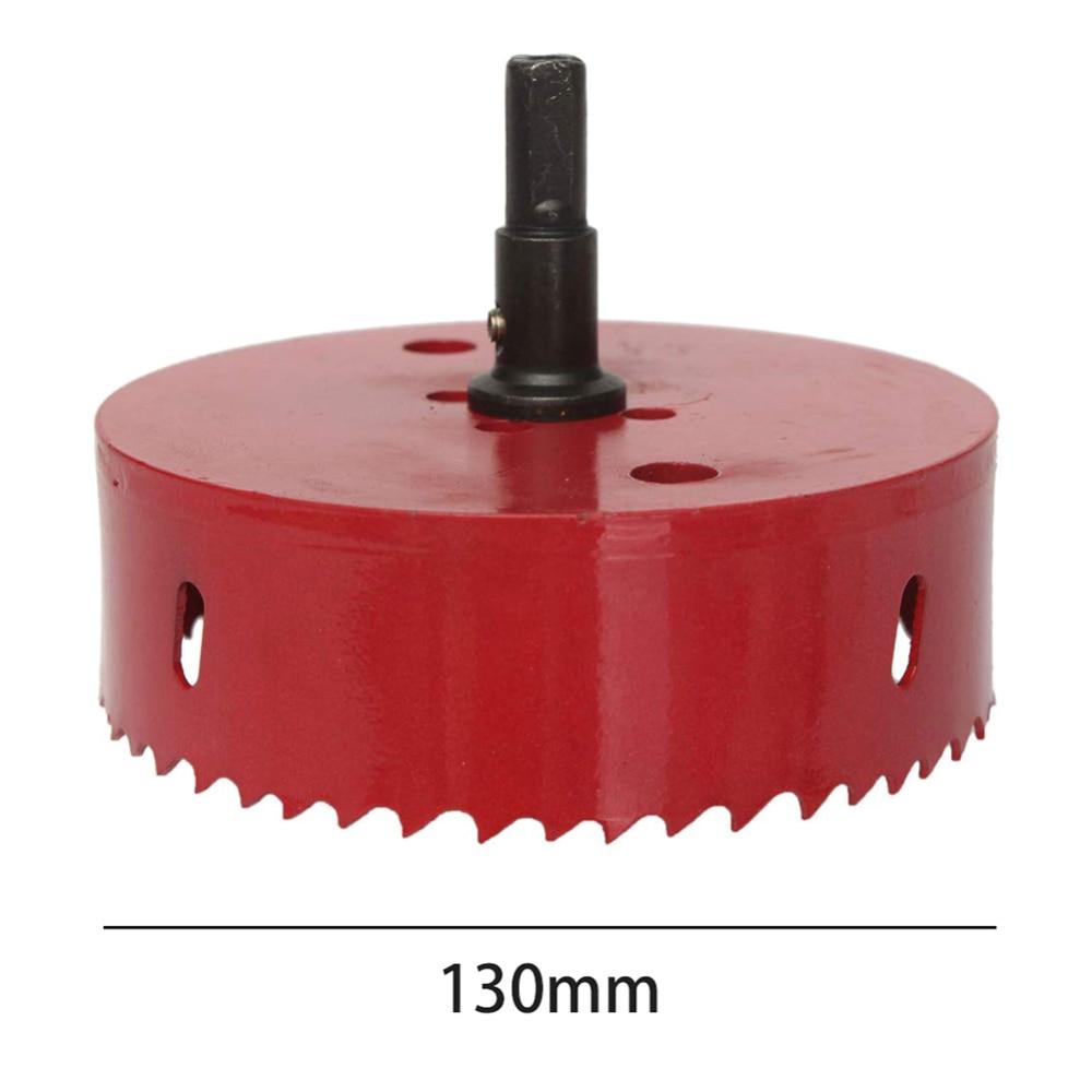 M42 HSS 130mm Bi-Metal Wood Hole Saws Bit For Woodworking Diy Wood Cutter Drill Bit Red Hole Saw Drill Bit Cutter Steel