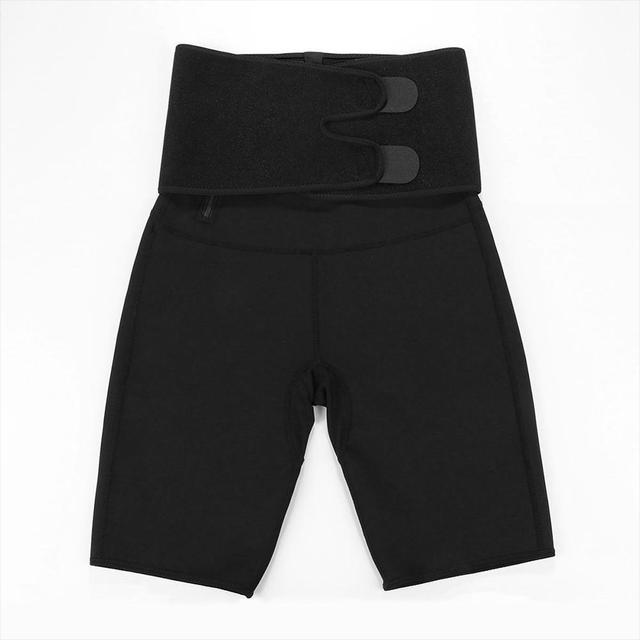 Sweat Slimming Neoprene Pants Body Shapers For Weight Loss Sauna Workouts Fajas Shapewear With Belt 4