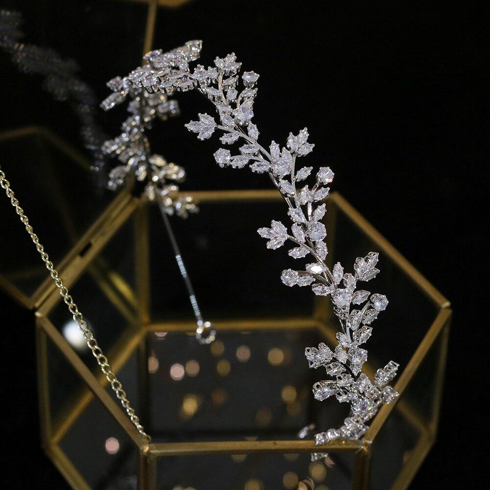 Klassische Kristall Hochzeit Headwear Zirkonia Haarband Braut Haar Zubehör Kopfschmuck Braut Crown Dinner-Party Zubehör