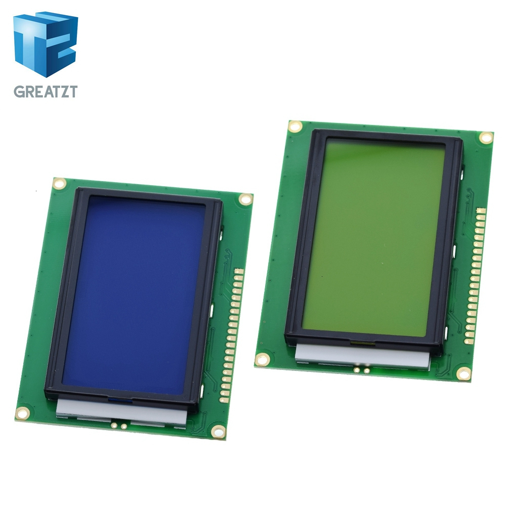 GREATZT 128*64 DOTS LCD Module 5V Blue Screen 12864 LCD With Backlight ST7920 Parallel Port LCD12864 For Arduino