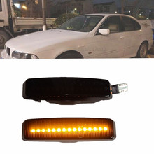 led side light bulb for bmw e39 1996 2003 smoked m logo car auto led side turn signal light led side marker lamp for bmw e39 LED Turn Signal Dynamic Blinker Indicator Sequential Side Mirror Marker Light For BMW 5 Series E39 M5 2000 2001 2002 2003