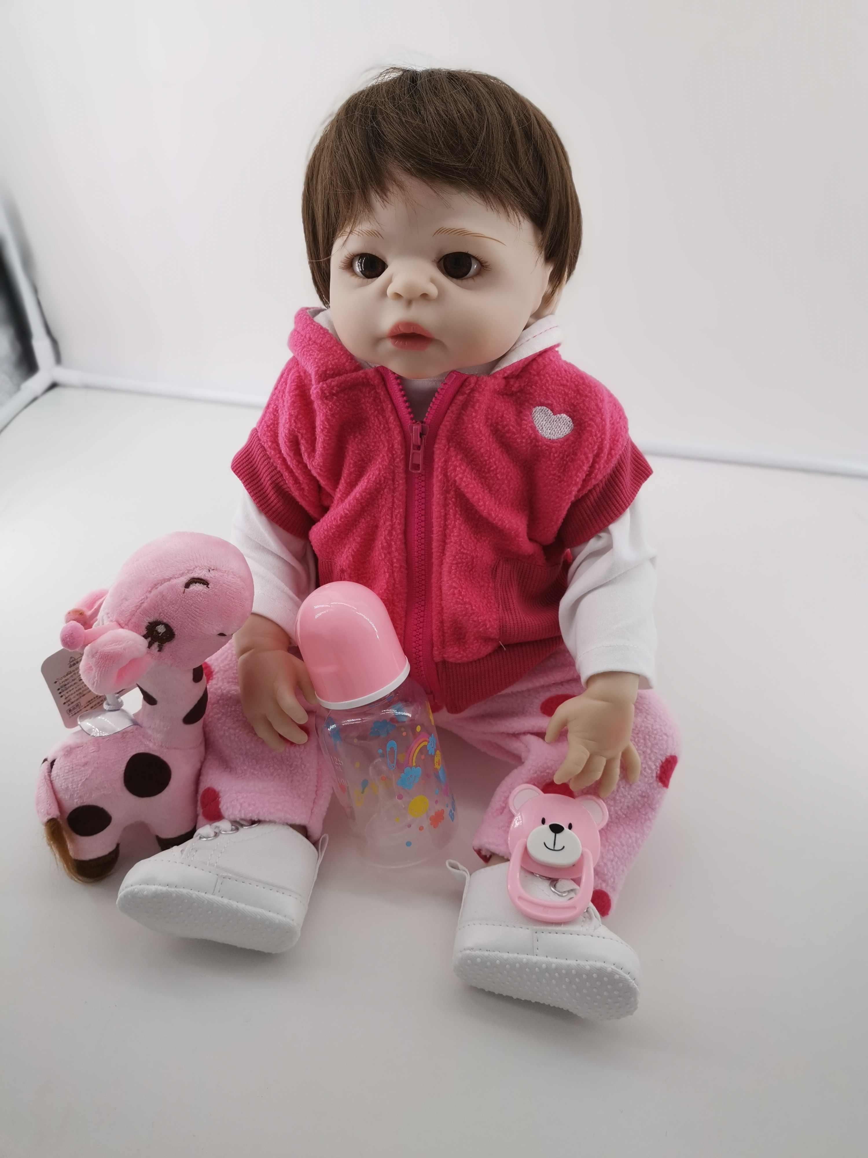 47 CENTÍMETROS bebe renascer renascer baby girl boneca los pelé tan lol brinquedo de Banho de corpo inteiro de silicone bonecas de natal Gfit