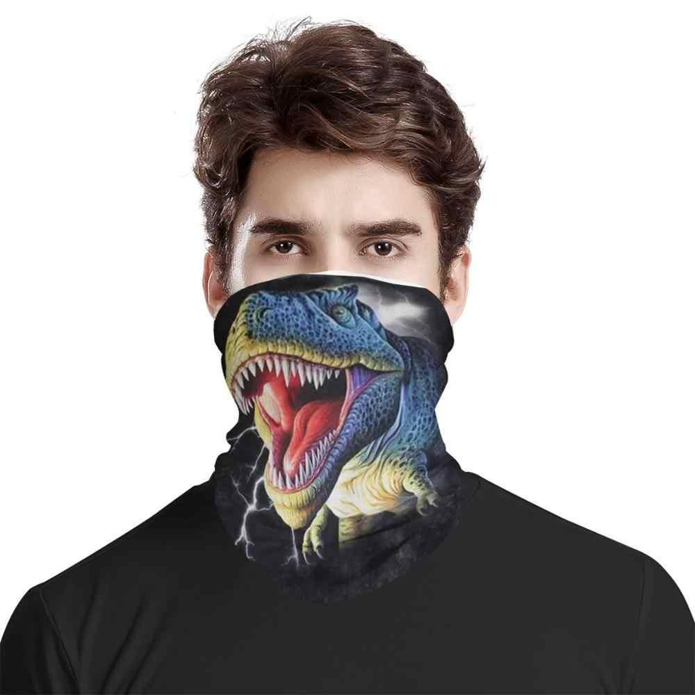 입 커버 사용자 정의 패턴 공룡 머리띠 야외 스포츠 사이클링 두건 다기능 캠핑 하이킹 목 원활한 스카프