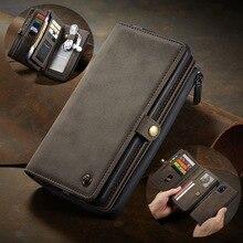 Custodia per telefono staccabile per Samsung A51 4G custodia in pelle Vintage con cerniera portafoglio porta carte di credito custodia per Samsung Galaxy A71 4G