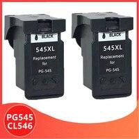 2 preto PG545 CL546 substituição para canon cartucho de tinta pg 545 545XL pg545xl para pixma MG2950 MG2550 MG2500 MG3050 MG2450 MG3051