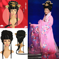 Hanfu accessories Chinese modern women Classical woman stage perform Bangs chinese style wig Maiden Chinese wig set