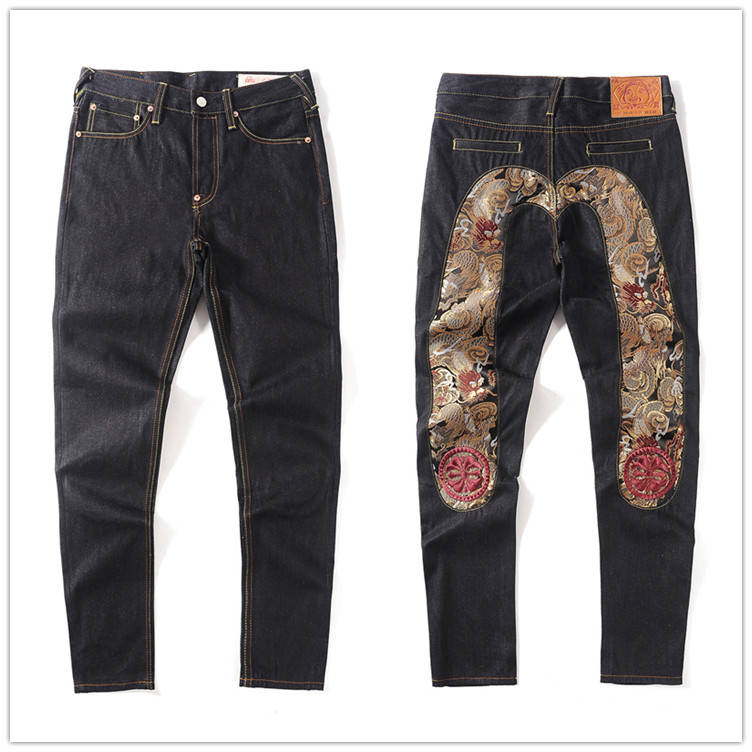 2020 New Evisu Top Quality Fashion Casual Hip Hop Men's Jeans Embroidery Printing Authentic Men's Breathable Straight Pants