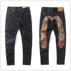 2020 neue Evisu Top Qualität Mode Lässig Hip Hop Männer der Jeans Stickerei Druck Authentische männer Atmungs Gerade Hosen