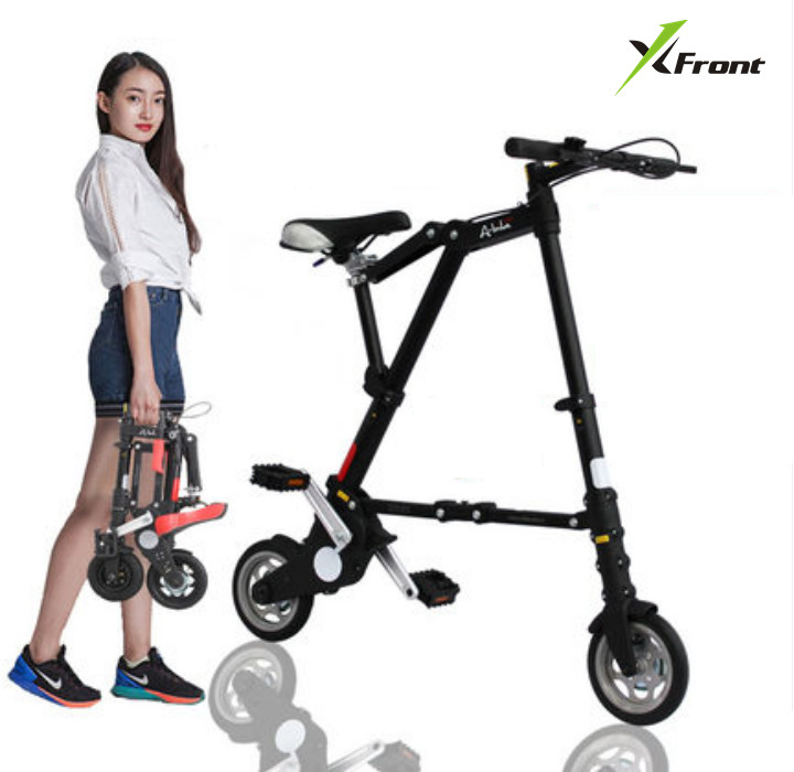 New Xfront Abike unisex 8 inch wheel mini ultra light folding bike subway transit vehicles road bicycle outdoor sports bicicleta|Bicycle| |  - title=