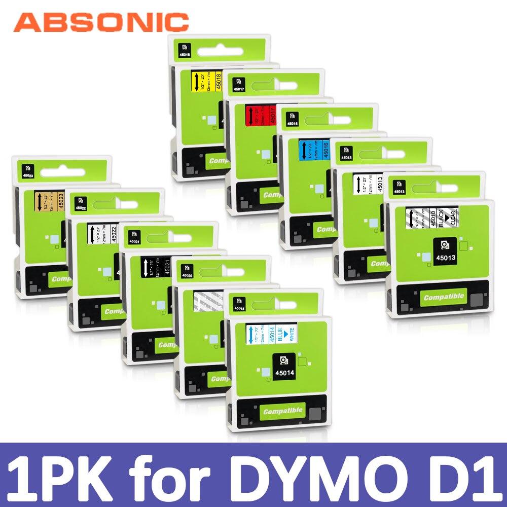 1PCS 6/9/12mm Labeling Tape for DYMO D1 Tape 45013 40913 45010  Label Tape for DYMO Printer LabelManager 160 280 210 260P Maker