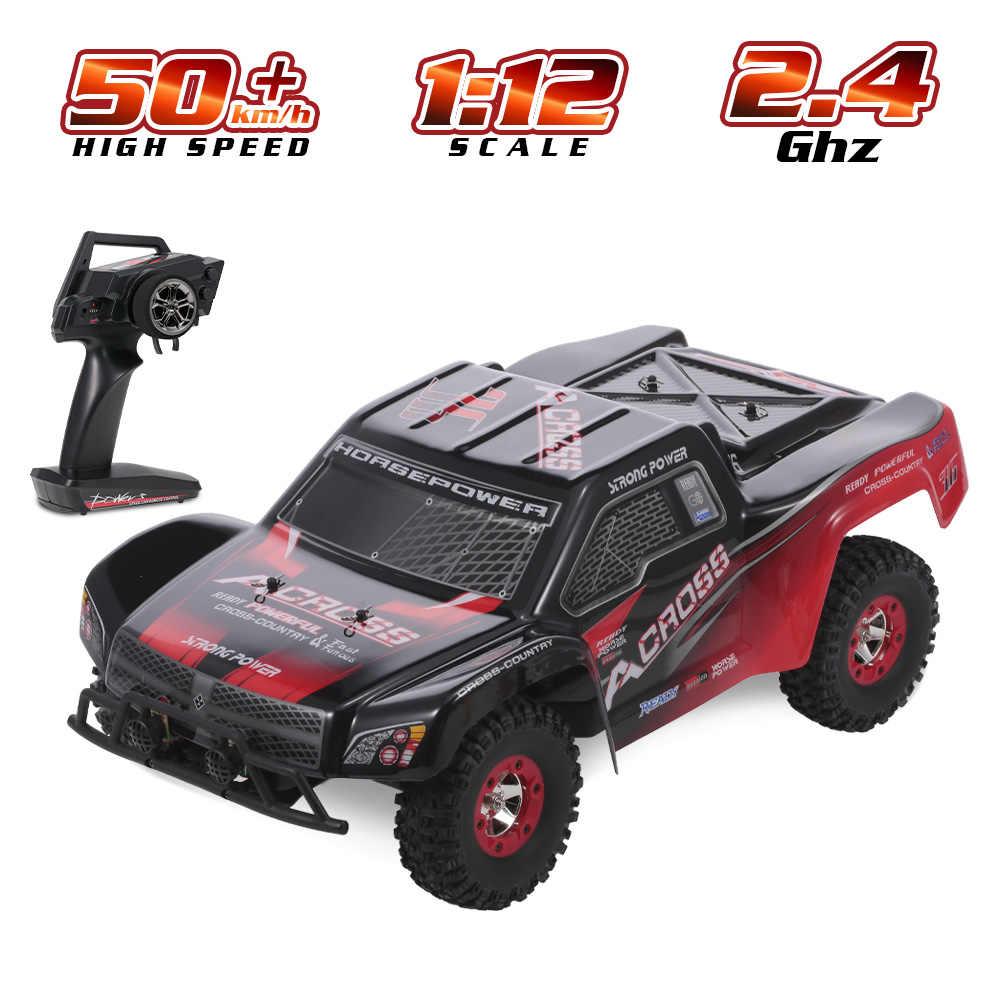Wltoys 12423 RC samochodów 1/12 2.4G 4WD SUV duże stopy gąsienicowe Off obciążenia samochodu 50 km/h wysokiej prędkości krótki kurs RTR RC samochodu