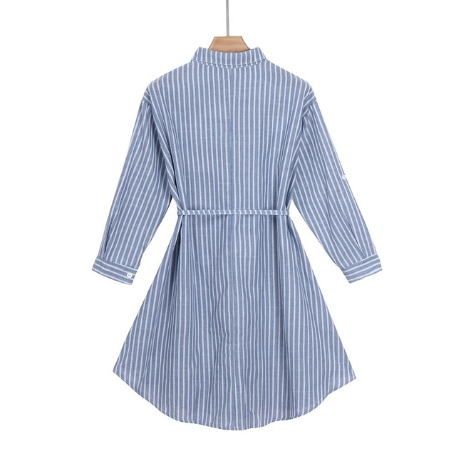 Striped Pregnant Maternity Dress for Women 4