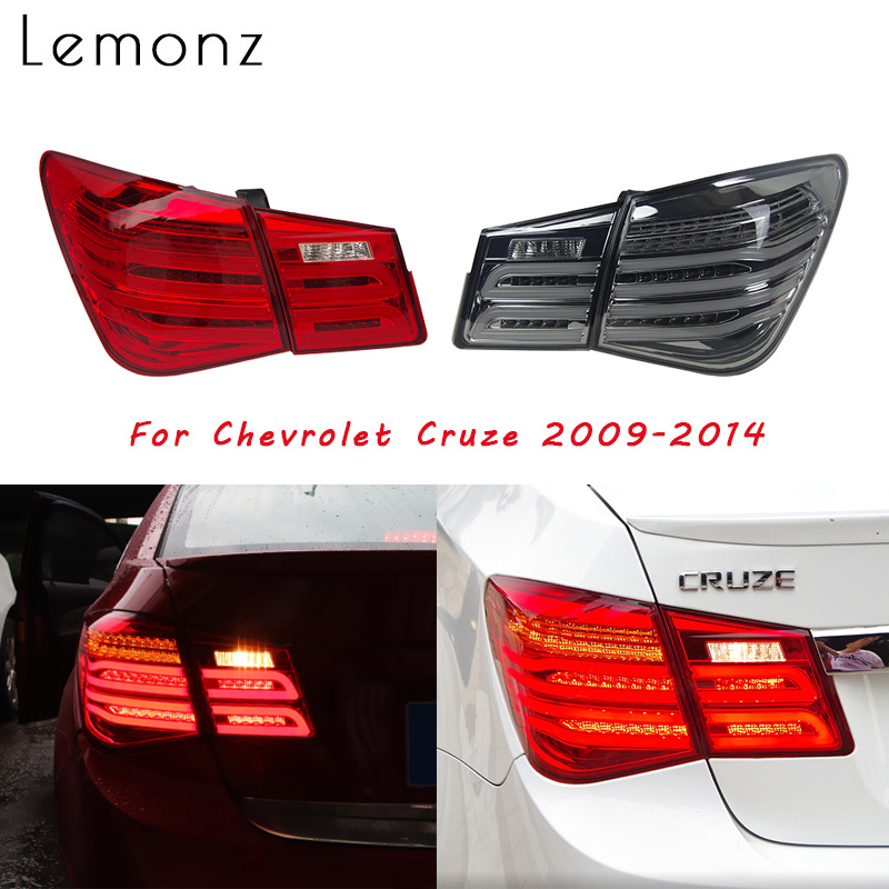 2PCS Assembly Rear Tail Lights For <font><b>Chevrolet</b></font> <font><b>Cruze</b></font> <font><b>2009</b></font> 2010-<font><b>2014</b></font> LED Running Brake Reverse Dynamic Turn Signal Taillights Lamp image