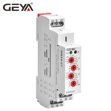 цена на Free Shipping GEYA GRT8-2T Double Delay on Timer Relay AC230V OR AC/DC12V-240V DPDT Relay Din Rail Type Time Delay Relay