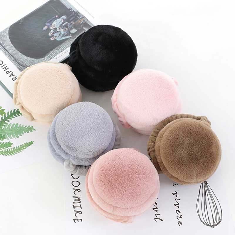 Fashionable Lovely Rainbow Earmuffs Female New Imitating Rabbit Hair Warm Accessories Autumn Winter High Quality Plush Earmuffs