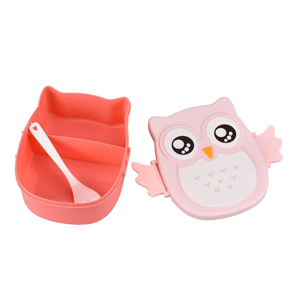 Cute Owl <font><b>Lunch</b></font> <font><b>Box</b></font> <font><b>Food</b></font> <font><b>Container</b></font> Students Office <font><b>Lunch</b></font> Carrier Bento <font><b>Box</b></font> Case With Compartments Non Toxic <font><b>Lunch</b></font> Cases @ND image