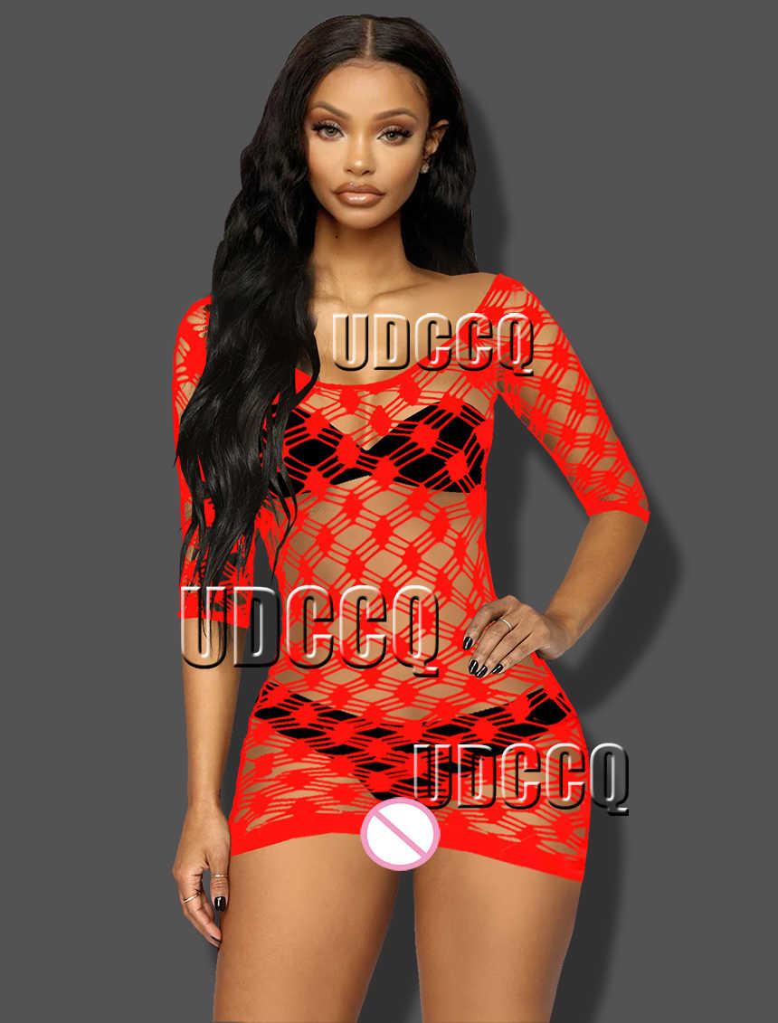 Hot Sexy Lingerie Kostum Piyama Pakaian Dalam Produk Erotis Bodystocking Lingerie Porno Babydoll Tanpa Tali Kotak-kotak Celana Ketat 8965