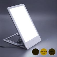 Touch Dimmable Sad Phototherapy Lamp Bionic Solar Therapy Light Depression Anti-fatigue Happy Lamp US