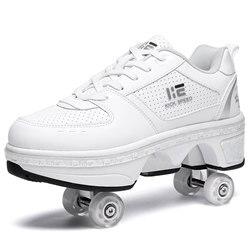 Roller Shoes Sneakers Walk Skates Deform Wheel Skates For Adult Men Wmen Unisex Couple Childred Runaway Skates Four-wheeled