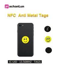 5/10 adet NFC 13.56Mhz S50 yazılabilir IC UID Anti Metal girişim karikatür etiketleri çıkartmalar anahtar kartı etiketi RFID NFC fotokopi