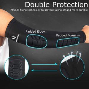 Велосипедные рукава NEENCA, спортивное защитное снаряжение, защита рук, защита для горных велосипедов, защита от ударов, баскетбольный Налокотник|Грелки для рук|   | АлиЭкспресс