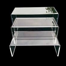 3Pcs/set 4mm Acrylic Display Stand Jewelry Showcase Storage Rack Shelf Holder Display Stand Transparent