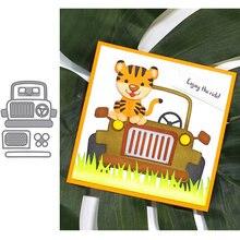 Трафаретный Скрапбукинг с рисунком автомобиля из мультфильма