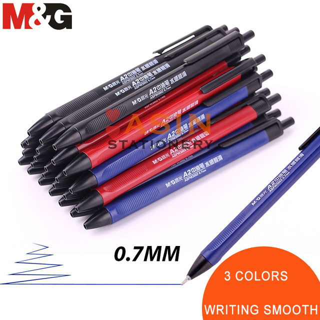 M&G 40pcs Semi Gel Writing Ball Point Pen 0.7mm Black/Blue/Red Economic Ball Pen for School and Office Gift Supply  Ballpoint