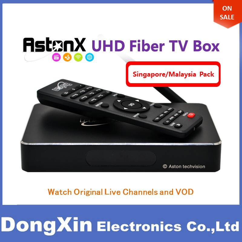 Aston X Singapore Fiber IPTV Box Android Replace Starhub Cable Watch Live English Chinese Malay Indian Tamil Indonesia Channel