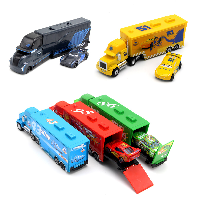 Pixar Cars 2 3 Toys Lightning McQueen Jackson Storm Mack Uncle Truck 1:55 Diecast Car Model Toy Kids Boy Gift