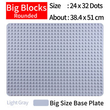 Classic Base Plate For Big Building Blocks Rounded Baseplate Bricks Learning Toys For Children