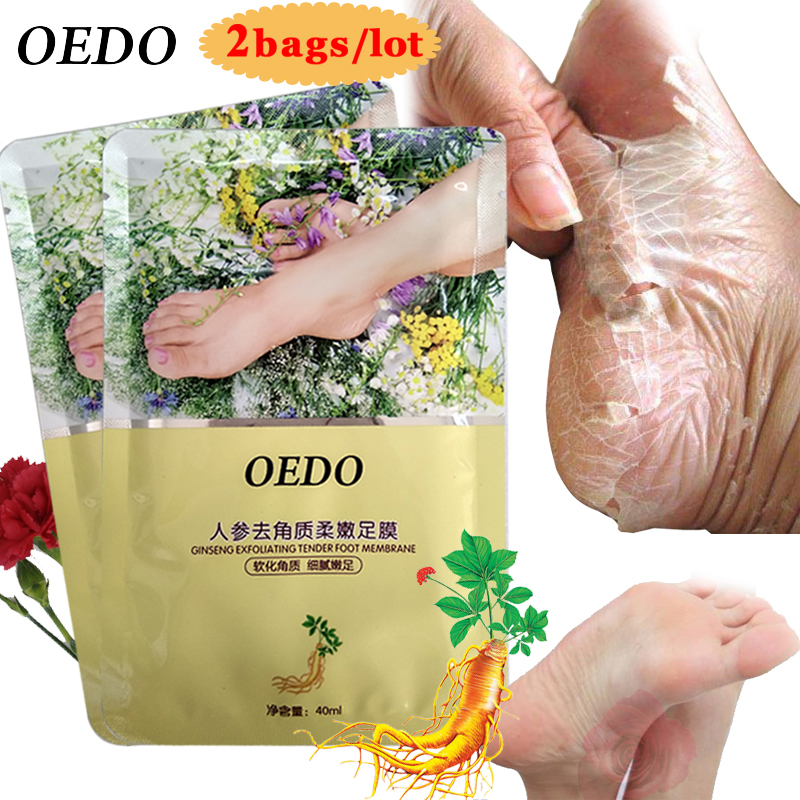 4PCS Skin Care Ginseng Extract Remove Foot Dead Skin Mask Foot  Peeling Exfoliating Skin Socks Whitening Beauty Feet Care Cream