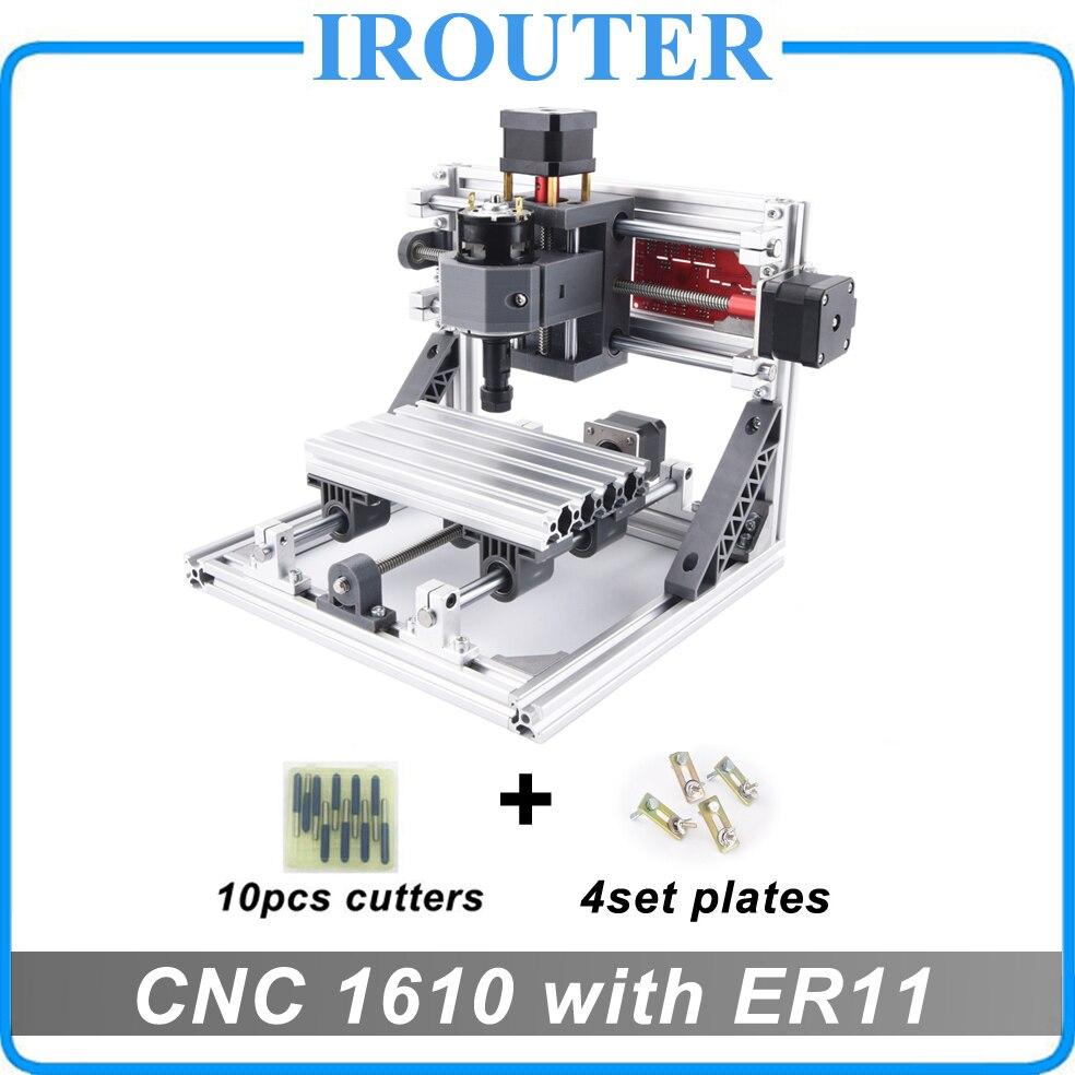 CNC 1610 с ER11, Мини diy ЧПУ лазерная гравировка машина, Pcb фрезерный станок, резьба по дереву маршрутизатор, cnc1610, лучшие передовые игрушки