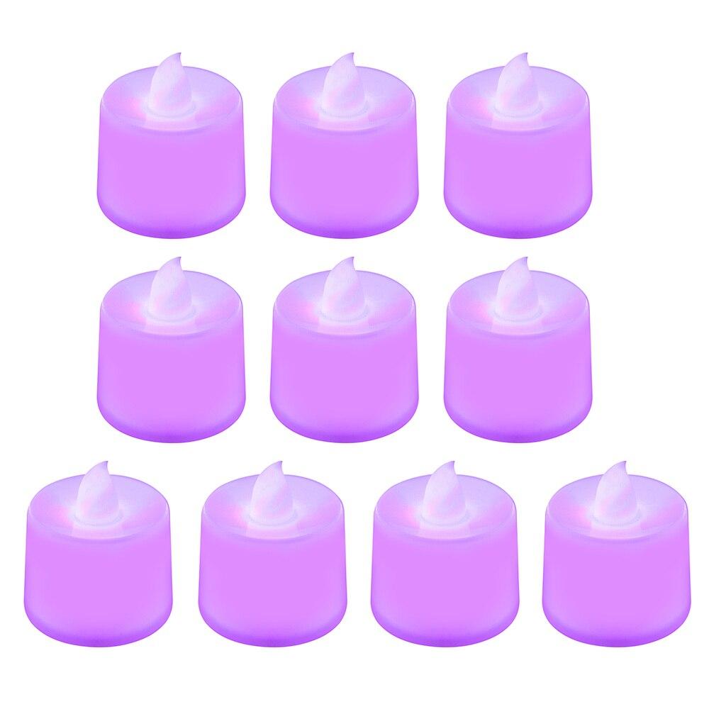1 шт. Креативный светодиодный светильник-свеча, многоцветная Лампа, имитирующая цвет пламени, чайный светильник, украшение для дома, свадьбы, дня рождения, Прямая поставка - Цвет: purple