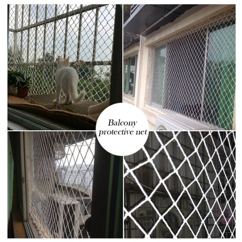 Safety Protection Fence Cat Dog Nylon Protective Transparent Mesh Net For Balcony & Window For Baby Kid Falling Net Fence Protec