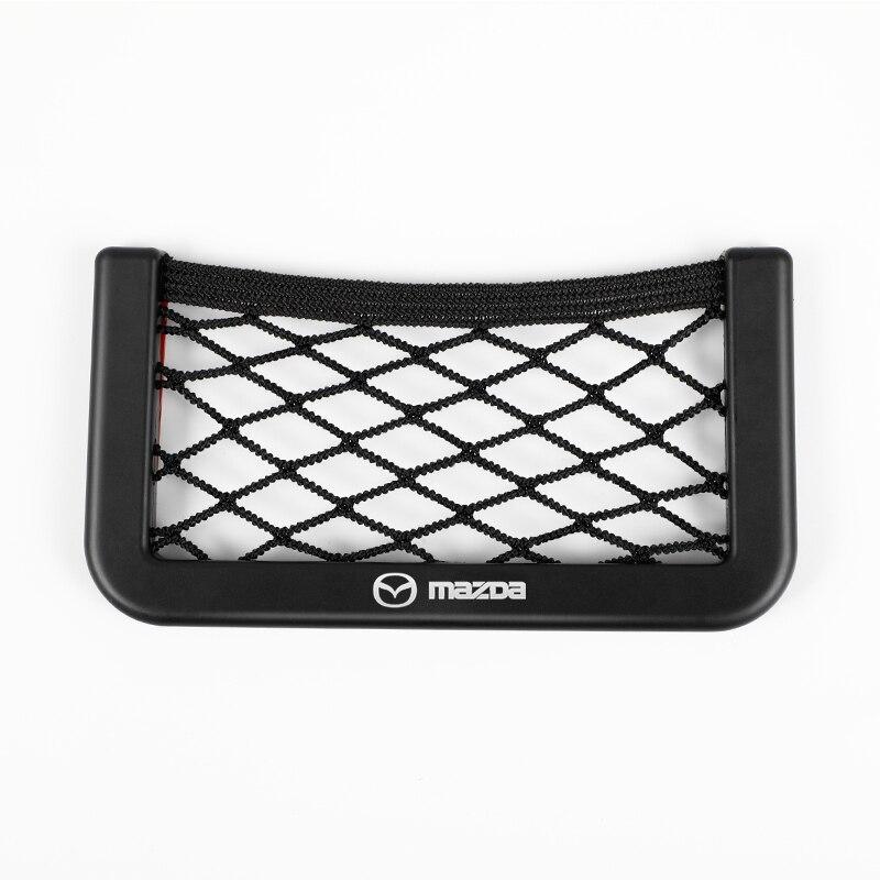 Автомобильная сетка для хранения сумка держатель телефона карманный органайзер для Mazda 2 3 мс для Mazda 6 CX-5 CX5 аксессуары