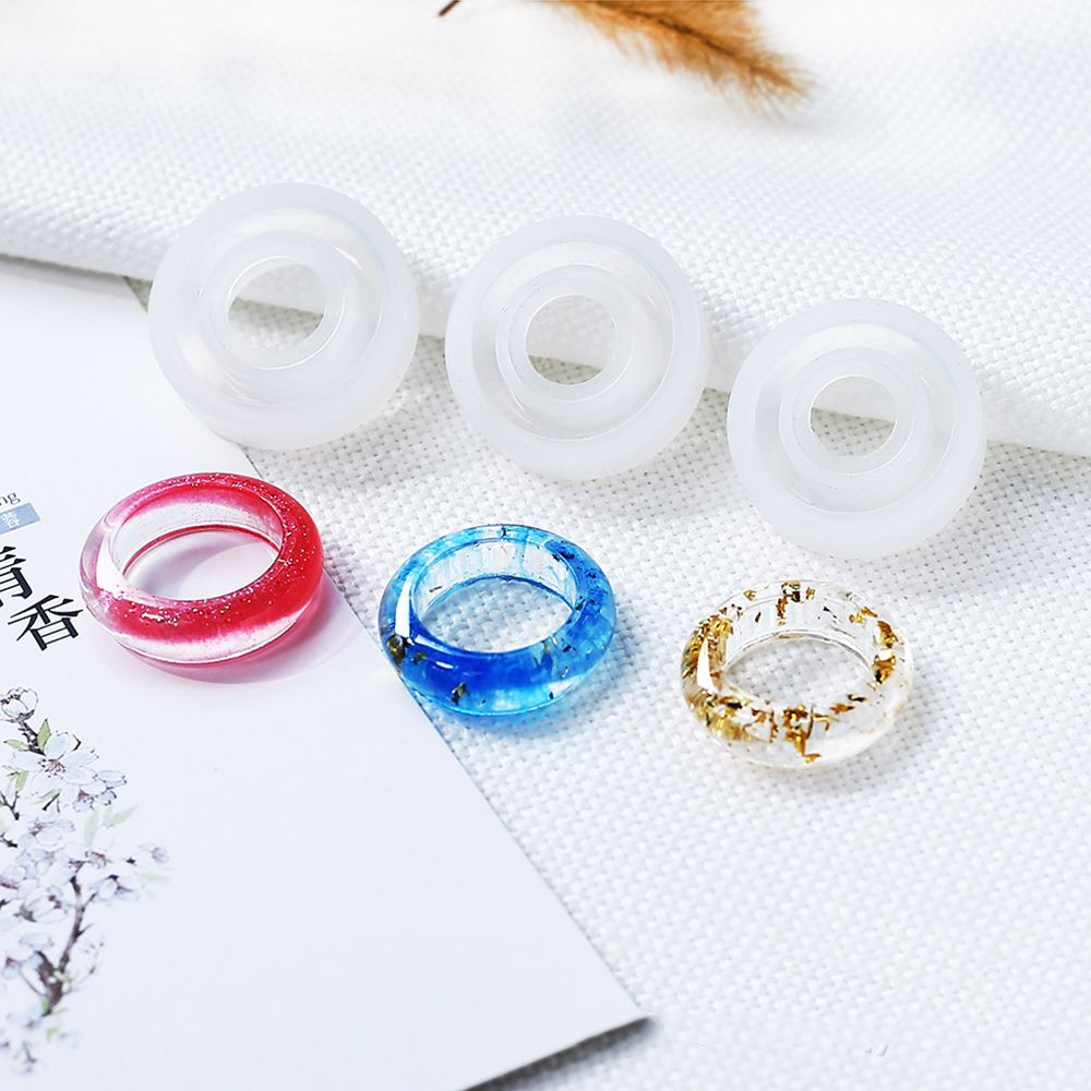 1 Pc Transparent DIY Silicone Flat Shape Ring Mold Mould Jewelry Making Tools Epoxy Resin Molds For Jewelry New Arrival