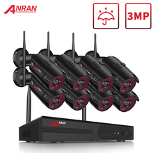 ANRAN 1080P HD IP Cameras Waterproof Outdoor Night Vision Surveillance System 8CH NVR Kits With 2TB HDD Pre installed