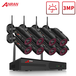 Image 1 - Anrun 1080P HD كاميرات اي بي مقاوم للماء في الهواء الطلق نظام مراقبة للرؤية الليلية 8CH NVR أطقم مع 2 تيرا بايت HDD مثبتة مسبقا