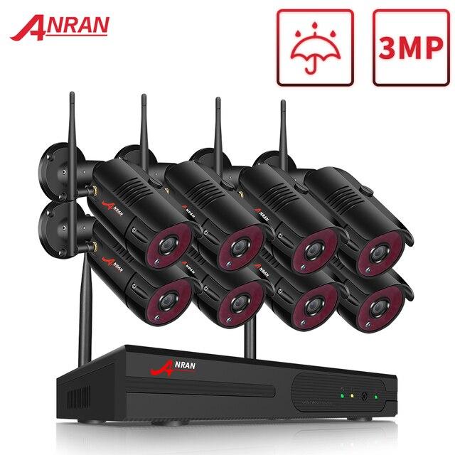 Anrun 1080P HD كاميرات اي بي مقاوم للماء في الهواء الطلق نظام مراقبة للرؤية الليلية 8CH NVR أطقم مع 2 تيرا بايت HDD مثبتة مسبقا