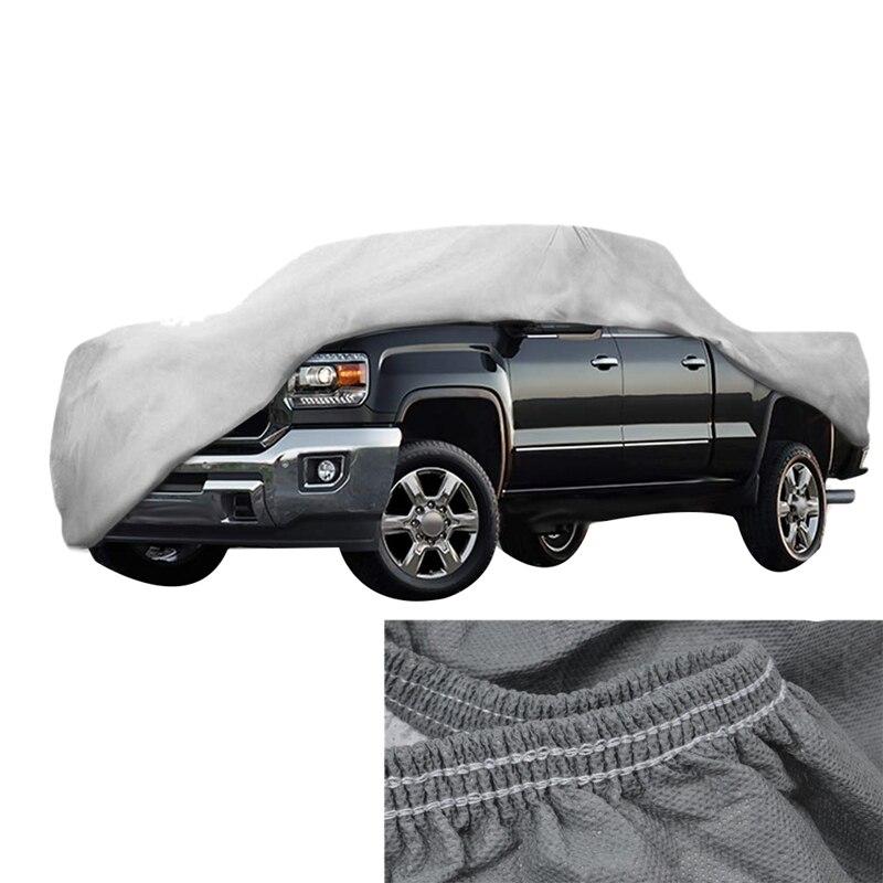 Couverture de poussière de camion en cuir Non tissé épaissi vent, pluie, UV couverture de Protection de camion pour Ford F150 Ram 1500 Chevy Silverado GMC Si