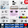 Beauty Salon Eye Lashes Live Love Wall Sticker Home Decoration Eyes Quotes Wallpaper Waterproof Wall Decoration Murals Decal 1